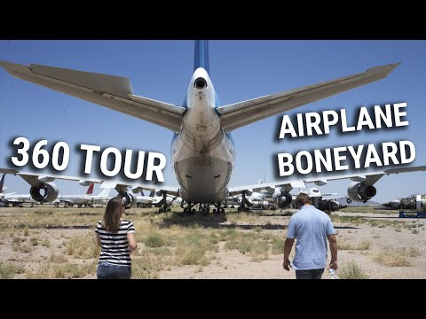 "360 tour of the Pinal County airpark ""airplane boneyard"""