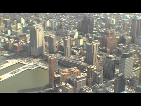 Flight over New York - with the Helicopter over Manhattan, Central Park & Yankee Stadium