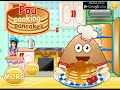 Pou Cooking Pancakes & Pou Thanksgiving Day Slacking Online Free Flash Game Videos GAMEPLAY