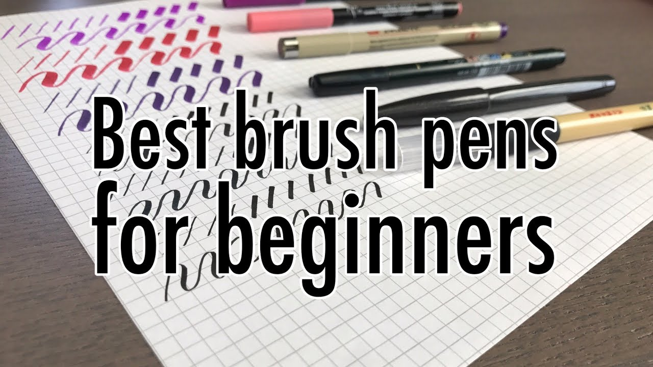 What are the best brush pens for beginners youtober day youtube