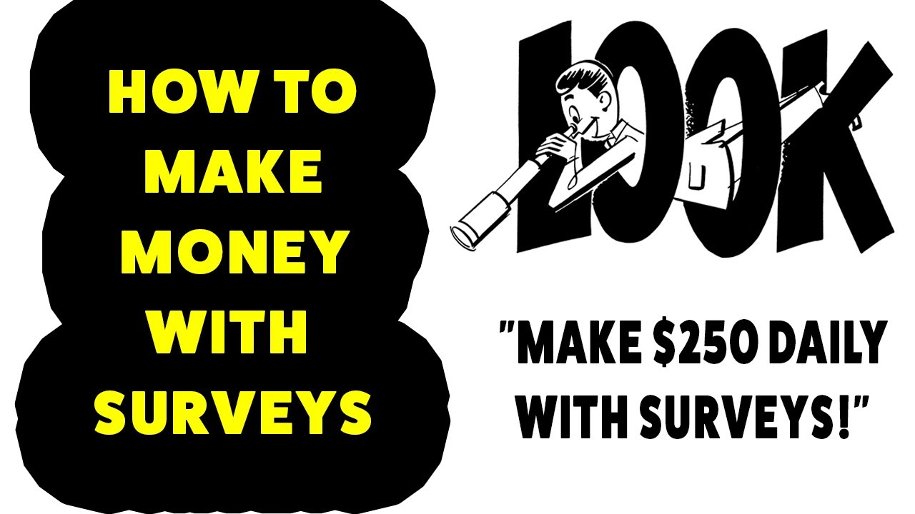 How To Make Money With Surveys 2017 - Make Money Online - $250 With Surveys  Daily