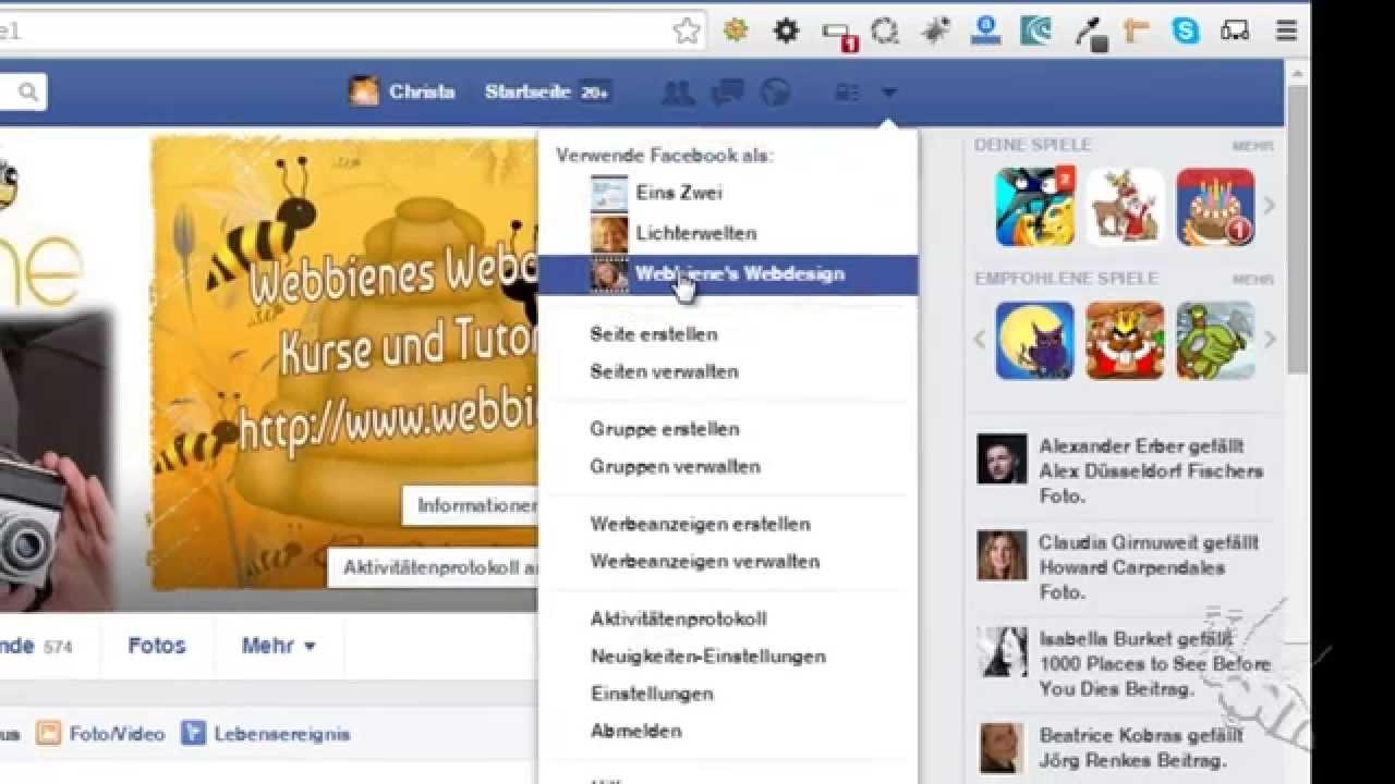 freunde auf die facebook fanpage einladen - youtube, Einladung