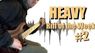 drop g 7-string heavy riff | riff of the week #2 | rotw