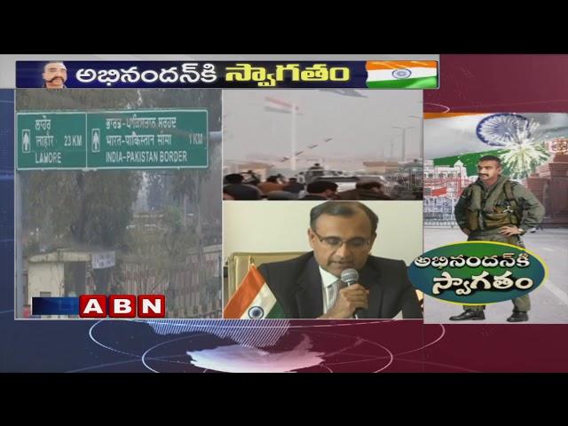 Indian Air Forces hold Press Meet  over IAF Pilot Abhinandan Returning Process   ABN Telugu