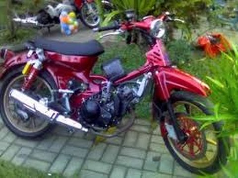 Modifikasi Motor Honda 70 Pitung Elegan Bahan Modifikasi Youtube