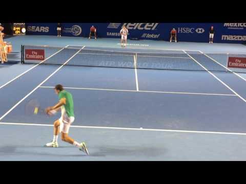 Grigor Dimitrov Vs Denis Kudla at Acapulco Open - Court level view