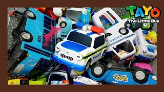 Tayo Kendaraan berat Mainan menunjukkan l #33 Menyelamatkan mobil polisi! l Tayo Bus Kecil