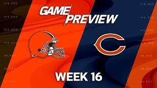 Cleveland Browns vs. Chicago Bears   NFL Week 16 Game Preview   NFL