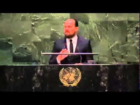 Leonardo DiCaprio U N Climate Change Speech DiCaprio