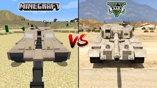 MINECRAFT TANK VS GTA 5 TANK - WHICH IS BEST?