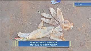 Dupla sofre acidente de moto fugindo da Polícia