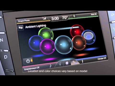 Ambient Lighting Lincoln How To Video Youtube