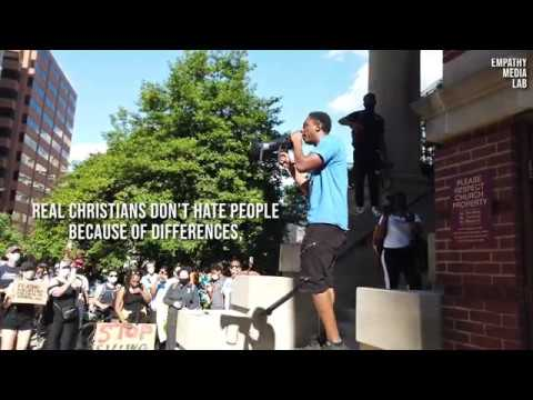 Pastor Preaches The Word during #BLM Protest Near White House
