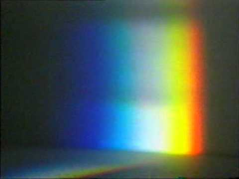 Light split into colours by a prism - YouTube