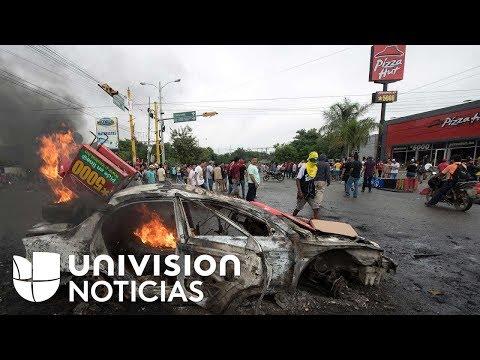 Saqueos y violencia en las calles de Honduras por la falta de transparencia en las elecciones