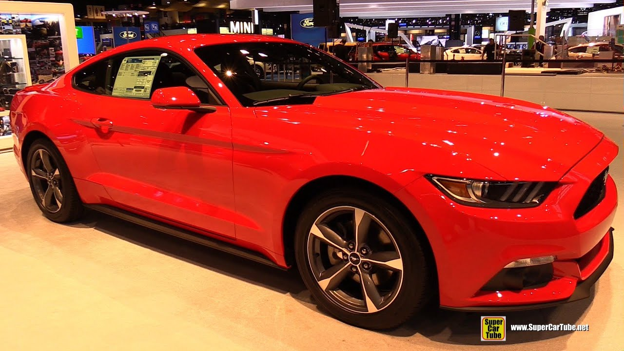 2015 ford mustang v6 coupe exterior and interior walkaround 2015 chicago auto show youtube. Black Bedroom Furniture Sets. Home Design Ideas