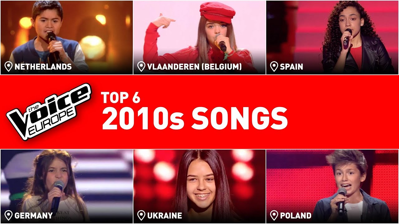 The most ICONIC songs of the LAST DECADE in The Voice Kids   TOP 6