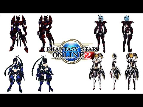 Phantasy Star Online 2 Class Selection and Character Customization