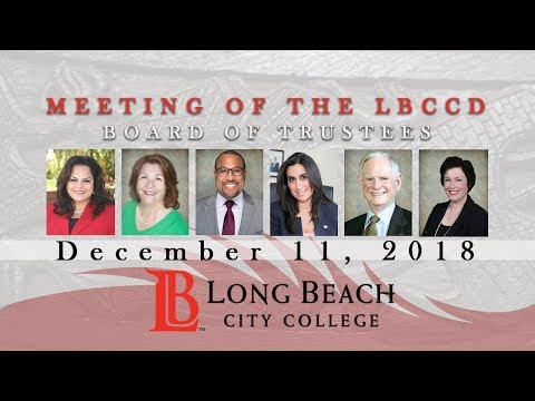 LBCCD Board of Trustees Meeting - December 11, 2018
