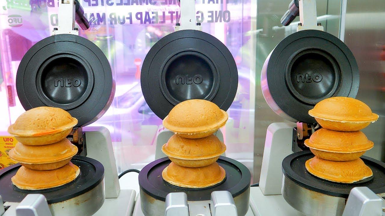 언제까지 햄버거를 흘리면서 먹을거야? 외계인 고문해서 만든 4차원버거 UFO버거 / Flying saucer burger, UFO burger / Korean street food