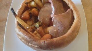 Roast Beef In Giant Yorkshire Pudding Recipe - Myvirginkitchen