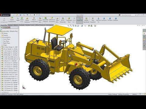 Solidworks Tutorial | Sketch Wheel Loader In Solidworks