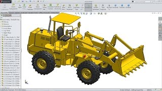 Solidworks tutorial   Sketch Wheel Loader in Solidworks