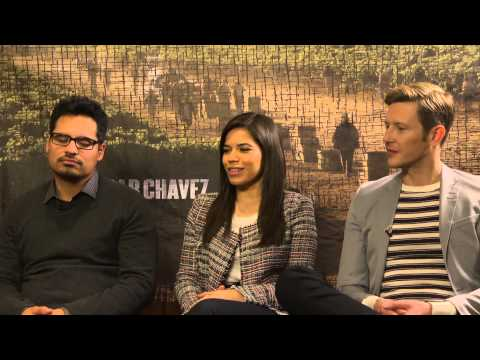 Cesar Chavez INTERVIEW with Michael Pena, America Ferrera and Gabriel Mann
