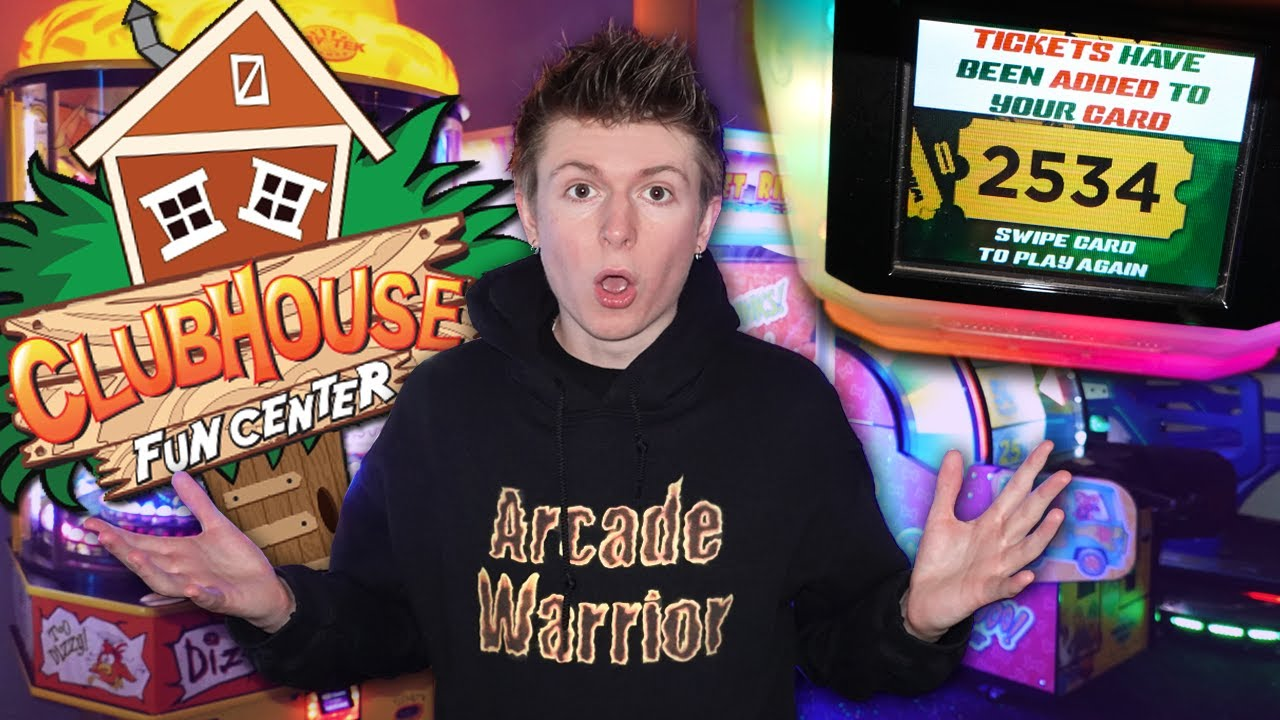 Winning So Many Arcade Jackpots at the Clubhouse Fun Center!