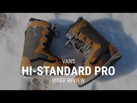 Vans Hi Standard Pro 2019 Snowboard Boot Review Tactics