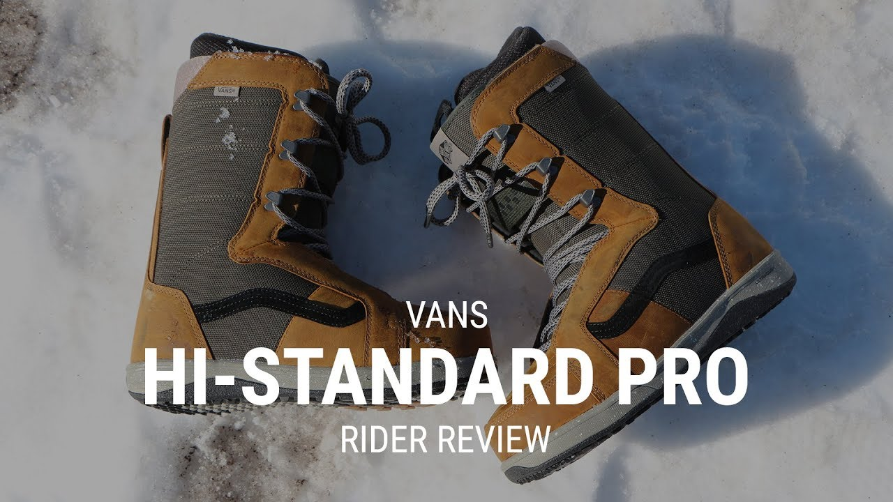 26b243918f Vans Hi-Standard Pro 2019 Snowboard Boot Review - Tactics.com - YouTube