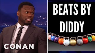 "curtis ""50 cent"" jackson made fun of p diddy conan on tbs"