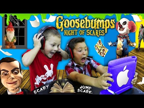 Thumbnail: NIGHT OF JUMP SCARES!! Mike & Chase play GOOSEBUMPS N.O.S. iOS Game! (FGTEEV Scariest Gameplay)
