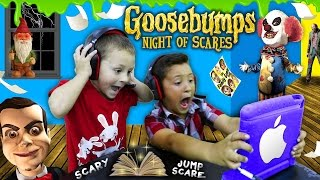 Repeat youtube video NIGHT OF JUMP SCARES!! Mike & Chase play GOOSEBUMPS N.O.S. iOS Game! (FGTEEV Scariest Gameplay)