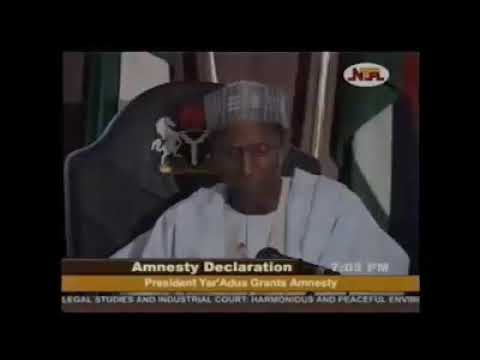 Download FLASHBACK: YAR'ADUA'S PROCLAMATION OF AMNESTY FOR NIGER DELTA MILITANTS IN 2009 (MUST WATCH)