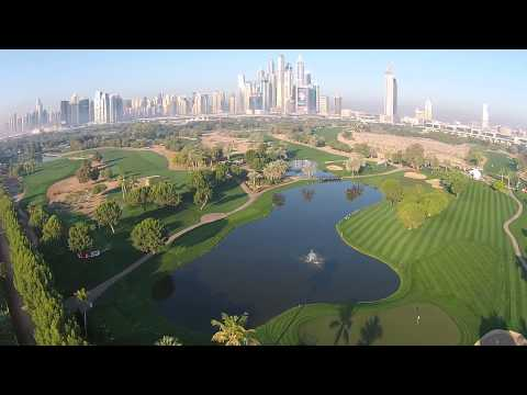 Birds Eye View over the Majlis, Emirates Golf Club