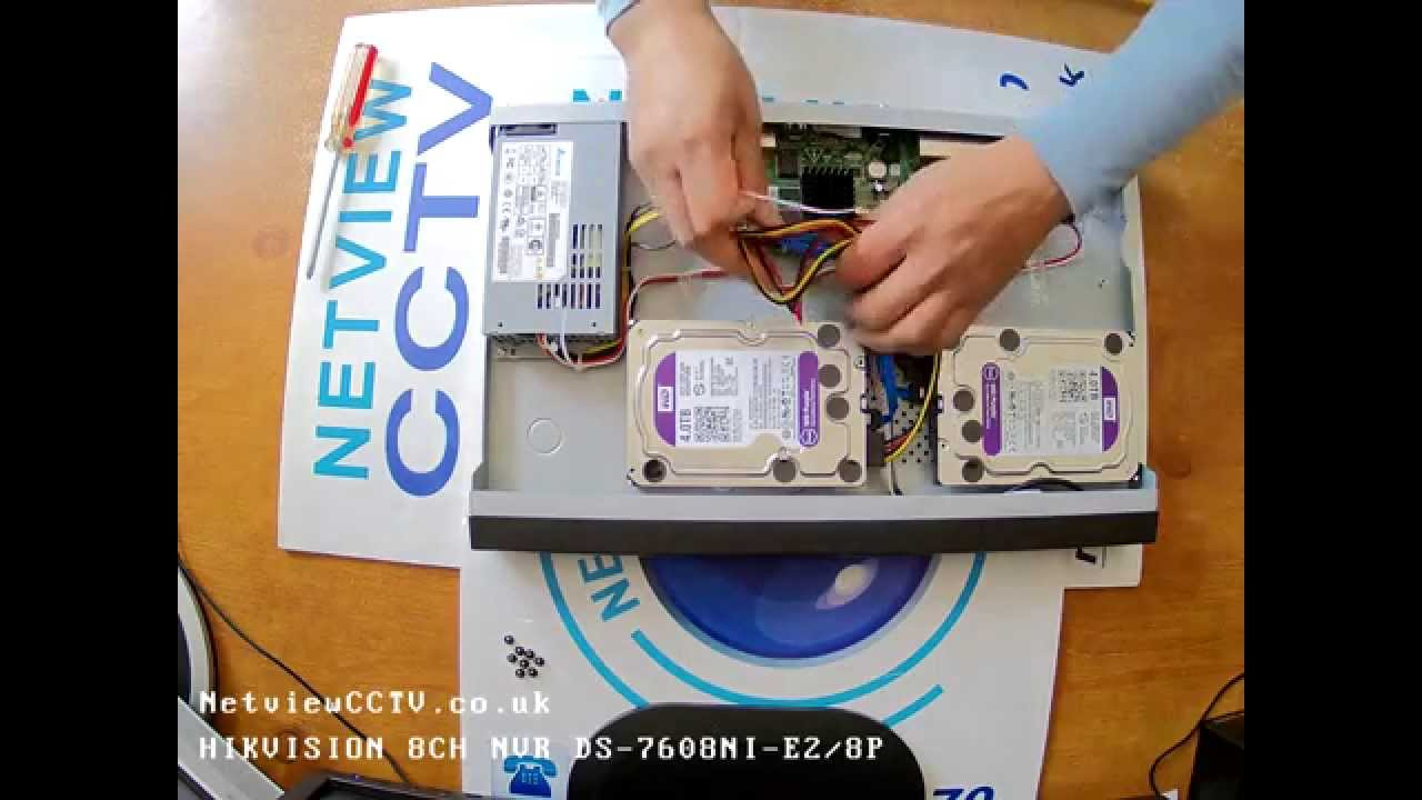 Hikvision NVR DS-7608 8TB Hard Drive Installation guide How to