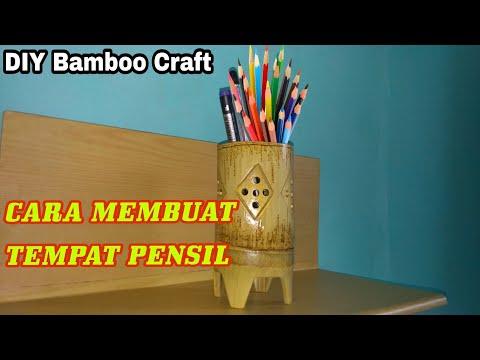 Kerajinan Tangan Cara Membuat Kotak Pensil Dari Bambu // Pencils Box