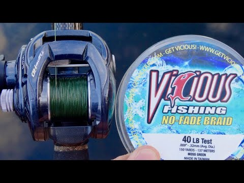 A Braid That Never Fades?  Vicious Fishing's NO-FADE Braided Line Review.