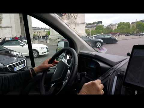 My Dad Navigating Paris' Arc de Triomphe Roundabout in an 8 Passenger Van