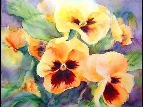 Yellow Flowers Painting Watercolour