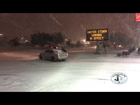Winter Snow Storm In Jacksonville, NC - January 3-4, 2018