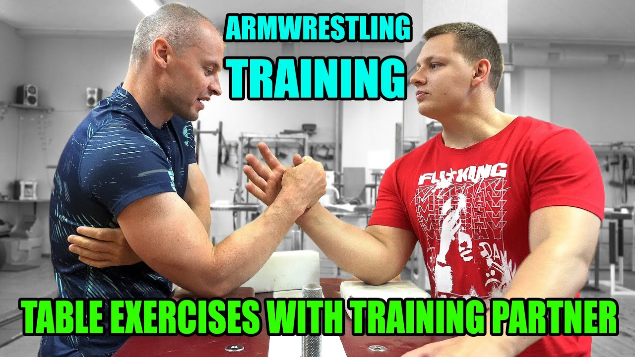 ARM WRESTLING TRAINING with a PARTNER (Table exercises)