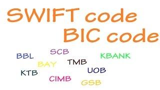 SWIFT code of bank in Thailand