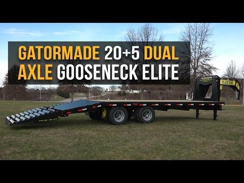 Gatormade 20+5 Tandem Dual Gooseneck Trailer Elite - Features Review