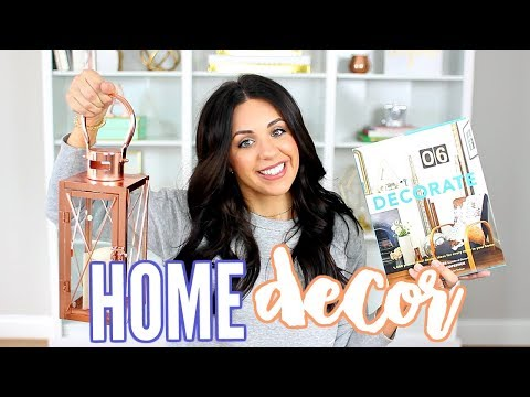 HOME DECOR HAUL! HOMEGOODS & T.J! COPPER AND MARBLE FALL DECOR!