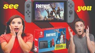 "Nintendo Switch ""FORTNITE"" Console Unboxing! (Double Helix Skin Bundle)buy on amazone"