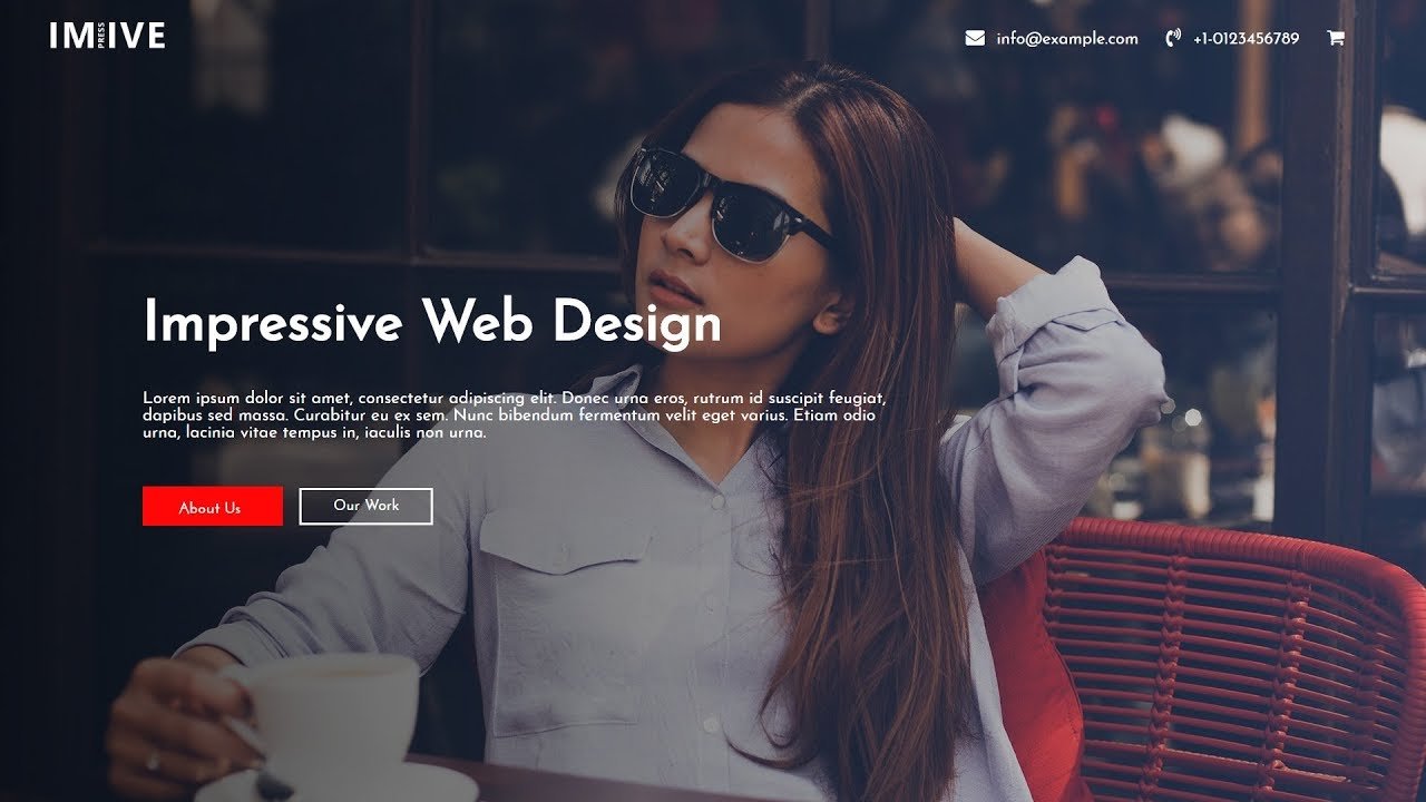 How To Make A Website Using HTML And CSS Step by Step | Website Header Design