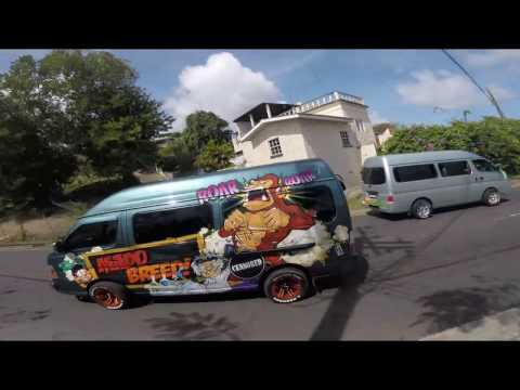 Riding a Minibus on My First Trip into Kingstown, Capital of St. Vincent & the Grenadines
