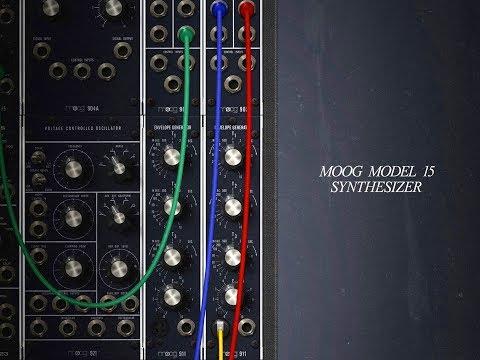 MOOG MODEL 15 - On Sale - And With A FREE Sound Bank - iPad Demo